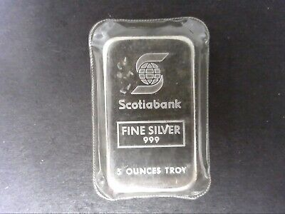 Johnson Matthey Scotia Bank 5oz .999 Silver Bar - Sealed