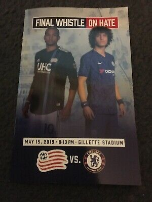 OFFICIAL PROGRAMME X 10 NEW ENGLAND REVOLUTION v CHELSEA IN BOSTON USA.15/5/2019