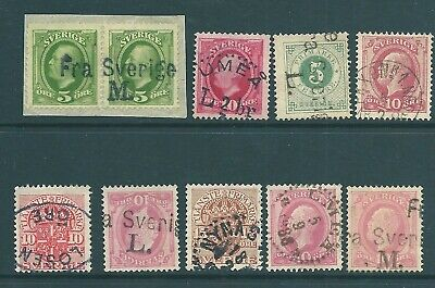 SWEDEN early used stamp & postmark collection
