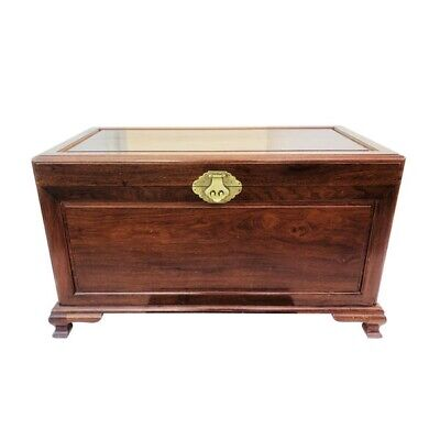 Antique Chinese Style Burma Rosewood and Camphor Wood Clothes Chest