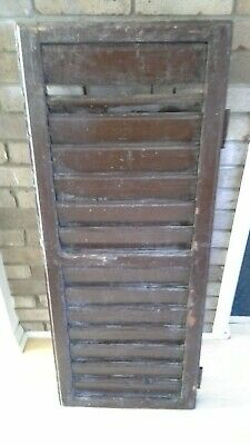 RECLAIMED, ANTIQUE WOODEN SHUTTERs x 2 SHABBY CHIC - WEDDING / DISPLAY
