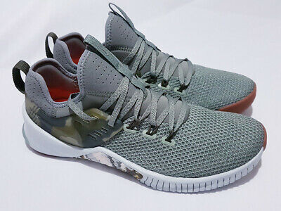 a27082025d342 Nike Free x Metcon Size 10 Training Shoes AH8141-002 Dark Olive Green Camo