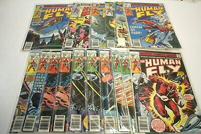 """LOT of 16 MARVEL """"The Human Fly"""" Bronze Age Comics (1970-83) INCLUDES ISSUE #1"""