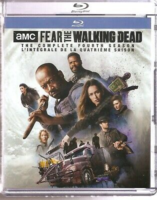 AMC FEAR THE WALKING DEAD COMPLETE FOURTH SEASON BLURAY SET with Lennie James