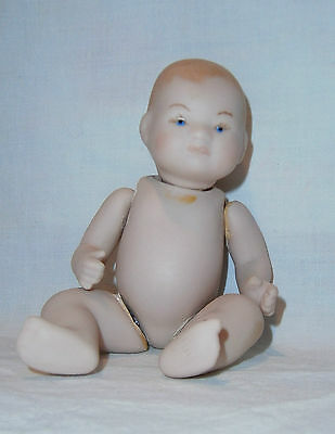 "5-1/4"" all bisque antique reproduction artist made Dream Baby EC"