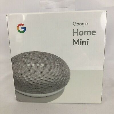 Google Home Mini Smart Small Speaker Assistant Chalk New Sealed HG296a