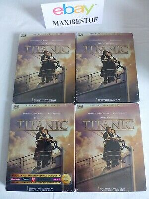 Titanic Steelbook 2D/3D Blu-Ray French Import NEW Sealed