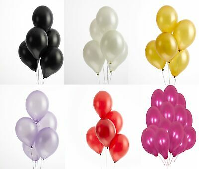 "12""Latex Pearlised mix colour Birthday Wedding Party Baloons Ballons Balloons"