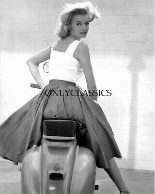 Actress Angie Dickinson Vespa Motor Scooter Motorcycle Pinup Girl 8X10 Photo