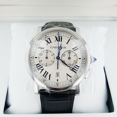 Cartier Rotonde Chronograph Silver Dial Steel 40mm Automatic Watch WSRO0002