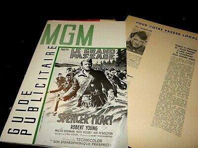 LE GRAND PASSAGE spencer tracy  dossier presse cinema 1949 western