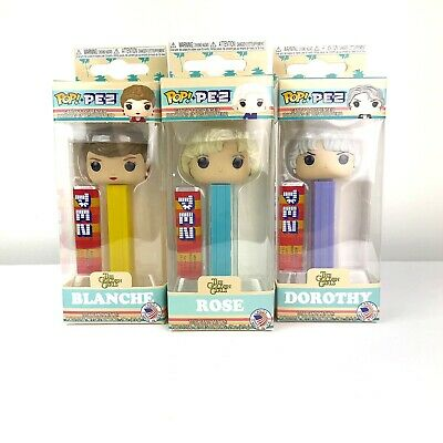 Funko POP! PEZ: Golden Girls Set Of Three ( Rose , Blanche And Dorothy ) NEW