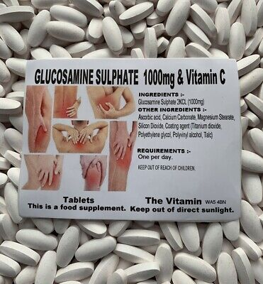 Glucosamine Sulphate 2KCL 1000mg & Vitamin C  365 TABLETS   FREE P&P      (L)