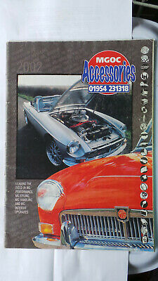 Mgoc Accessories Catalogue 2002 Vintage Mg Book Including Price List Mgb Maestro