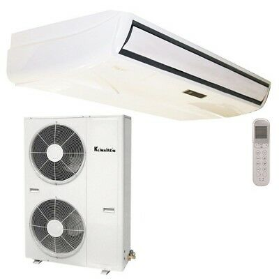 Klimaire 60000 BTU 17.8 SEER Ducted Recessed AC Fan Coil Unit Heat Lineset Kit