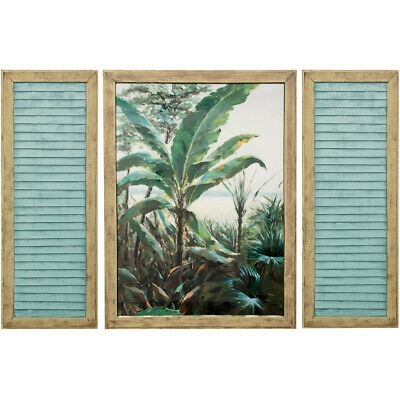 StyleCraft Home Collection WI333192DS Palm Beach Window Natural Wall Art