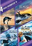 4 Film Favorites ~ Free Willy Collection Dvd 1 ~ 2 ~ 3 & 4 (Bn)