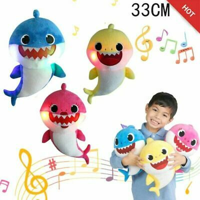 2019 Baby Shark Plush Singing Plush Toys Music Doll English Song Toy Gift yellow
