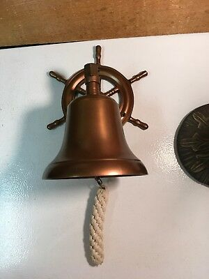 VINTAGE Nautical SHIP'S BELL CAST & BRONZED NAUTICAL.