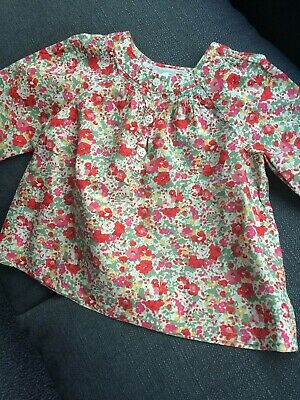 Bonpoint Classic Liberty Print Baby Blouse 18 month