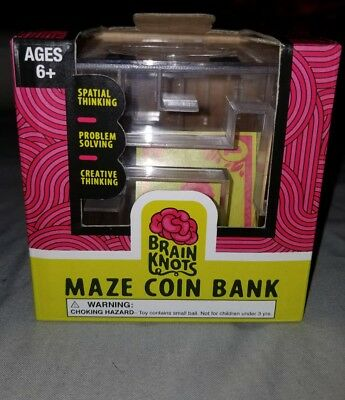 MONEY MAZE COIN Bank Gift box, puzzle and bank all in one by