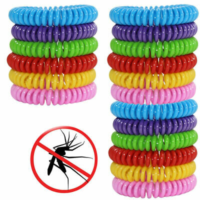 Summer 18 Pack Mosquito Repellent Bracelet Band Pest Control Insect Bug Repeller