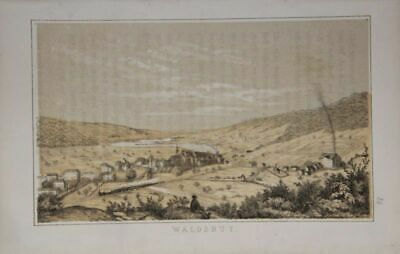 Waldshut. Gesamtansicht. Tinted Lithography by Metzger Nach Grether. (from: Fe
