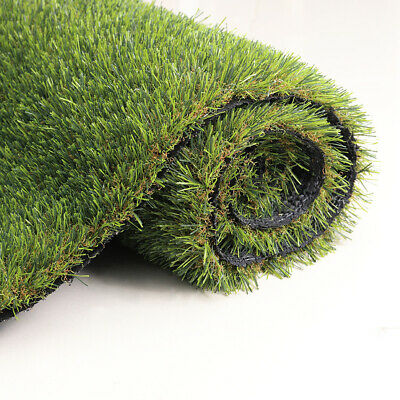 35mm Garden Artificial Grass Thick Fake Turf Astro Lawn 2m +4m/5m Wide Realistic