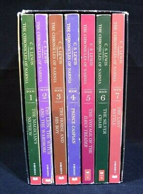 The Chronicles of Narnia C.S Lewis Complete Boxed Set #s 1-7 VGC Paperback