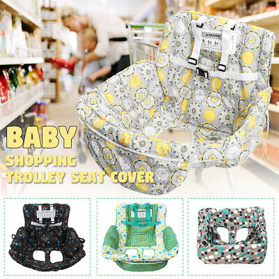 Foldable Baby Shopping Trolley Cart Seat Pad Kid High Chair Protective Mat Cover