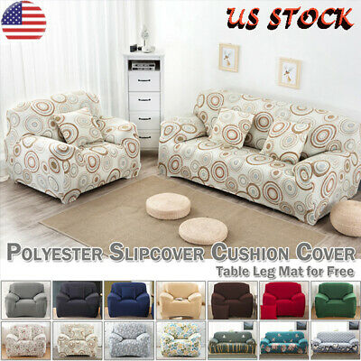 1/2/3/4 Seater Sofa Slipcover Furniture Couch Protector Elastic Cover Home US