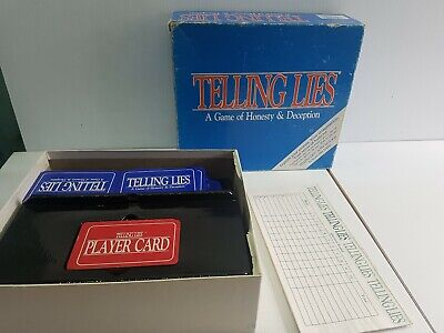 Telling lies a game of honesty and deception card game complete 1987