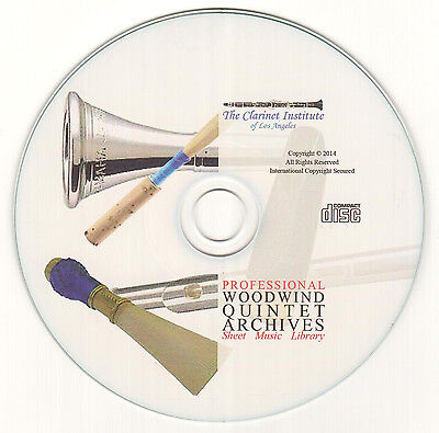 Huge Woodwind Quintet Música Hoja Collection CD Pdf