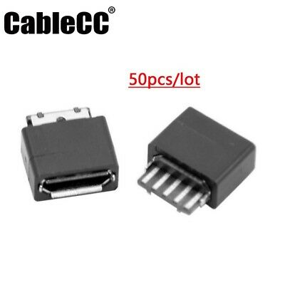 50PCS USB Connector Type A 4 Pin Receptacle Female Vertical Mount Socket Good