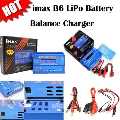 iMAX B6 LCD Screen 80W Digital RC Lipo NiMh Battery Balance Charger Adapter Accs