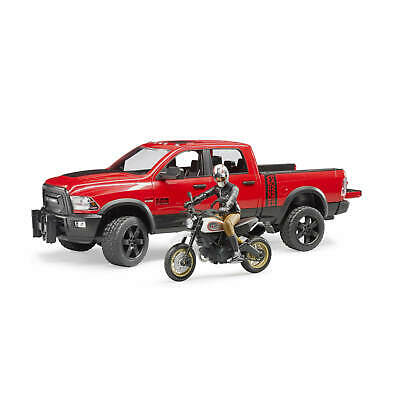 BRUDER-RAM 2500 Power Wagon with Ducati and Driver 1:16