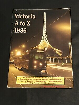 Vintage Guide Book VICTORIA A TO Z 1986 Information Maps and & Adverts Melbourne