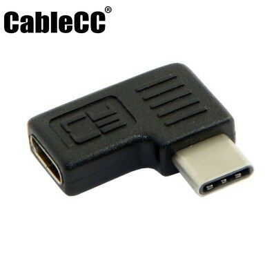 Cablecc Right Left Angled USB 3.1 Male to Female Extension Adapter for Laptop
