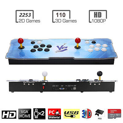 3D Pandora Key Retro Arcade Video Game Console - 2 Players with 2363 HD Games