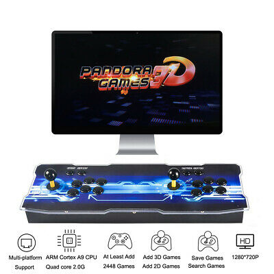 3D Pandora Key 7 Arcade Console with 2363 Retro HD Games 2 Players Add More Game