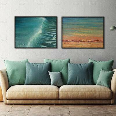 painting canvas seascape wave art work for hotels canvas print hand painting