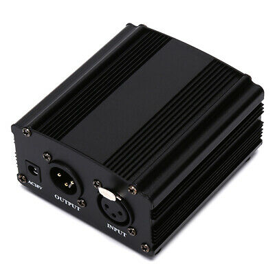 48V DC Phantom Power Supply For Condenser Recording Microphone +US/EU Power