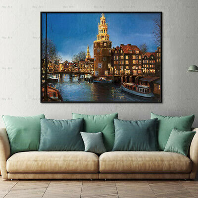 wall painting Building castle art work decor home goods wall art canvas painting