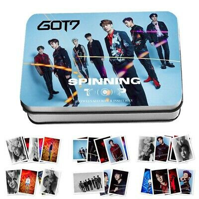 Kpop GOT7 SPINNING TOP HD Photocards Collection Lomo Cards Photo Cards 30pcs/set