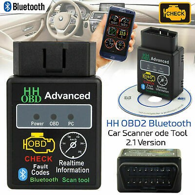 ELM327 Bluetooth Car Fault Diagnostic Detector OBD2 EOBD Android Torque Scanner
