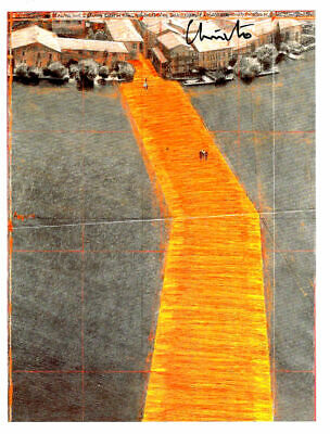 Christo & Jeanne Claude FLOATING Piers Tashencard  17 x 12,7 cm hand signed