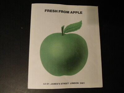 John Lennon 1973  Fresh From Apple Uk Promo Leaflet For ' Mind Games ' Lp