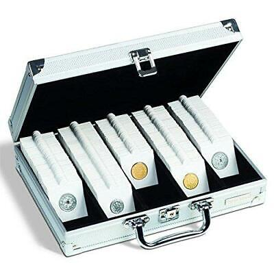 Aluminium Coin Case for 2 x 2 coin holders 250 Mixed Self Adhesive Coin Holders