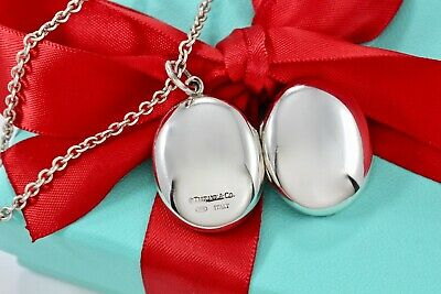 0d063f5d4 RARE Tiffany & Co. Silver Large Oval Locket Pendant 16