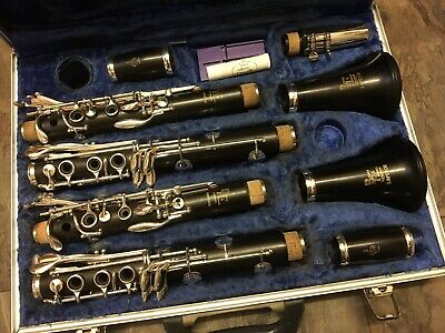 beautiful BOOSEY  HAWKES EMPEROR  MATCHED CLARINET  PAIR FULLY OVERHAULED